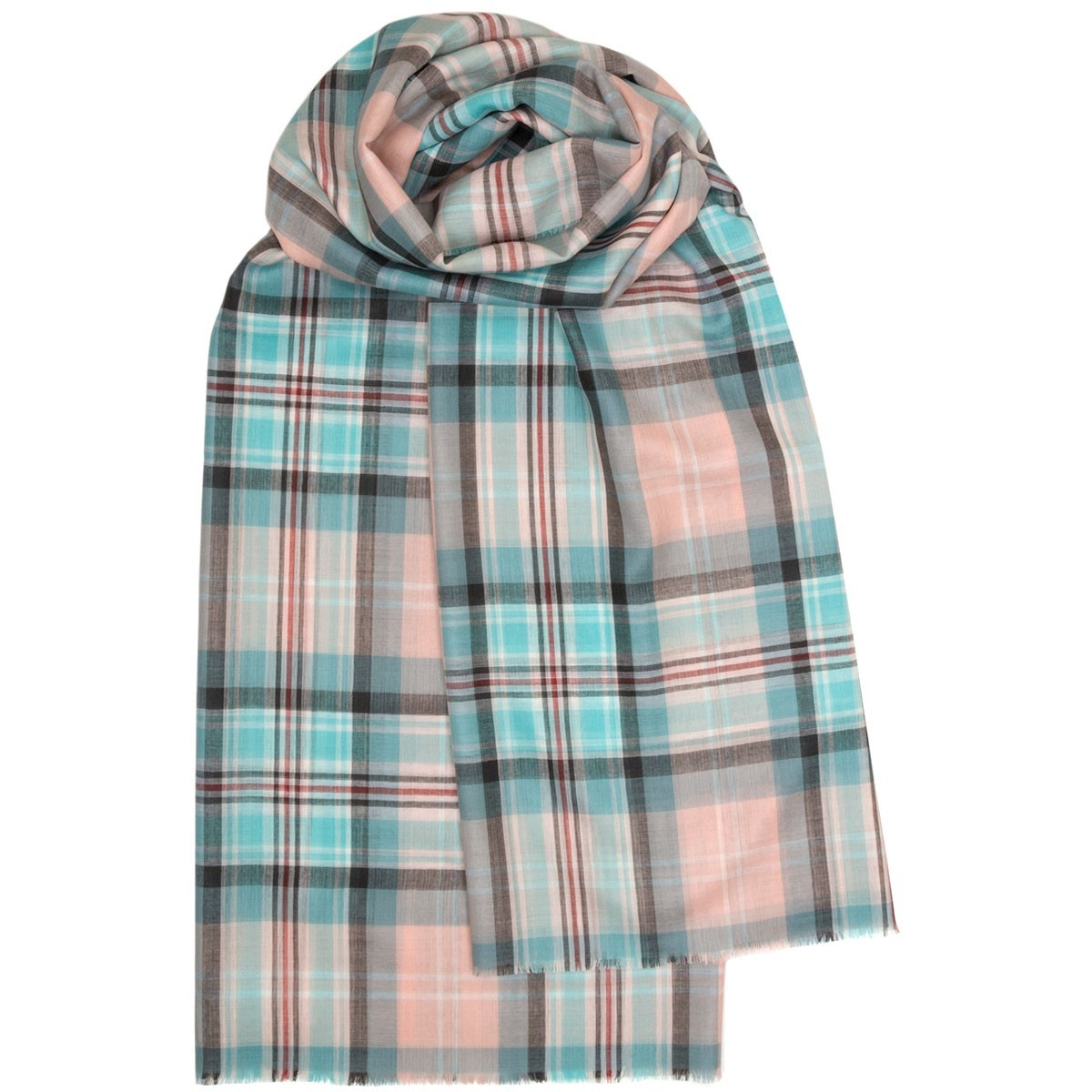 Lochcarron Peter Rabbit Tartan Wool Make-Up Bag/ Pencil Case - Made in Scotland