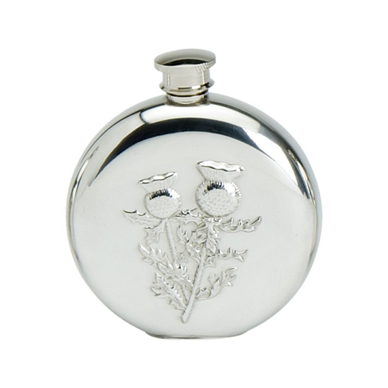 Edwin Blyde Thistle Collection 6Oz Round Flask Thistle