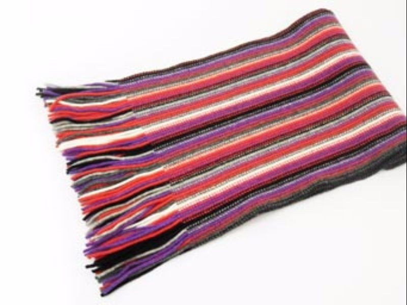 Purple Mix 2 Ply Cashmere Scarf from The Scarf Company - Made in Scotland