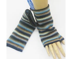 The Scarf Company 100% Lambswool Ladies Wristlets - Blue
