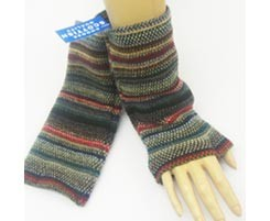 The Scarf Company 100% Lambswool Ladies Wristlets - Charcoal