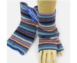 The Scarf Company 100% Lambswool Ladies Wristlets - Pale Blue