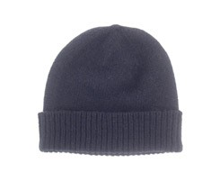 The Scarf Company Navy Cashmere Beanie Hat