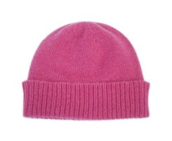 The Scarf Company Purple Cashmere Beanie Hat