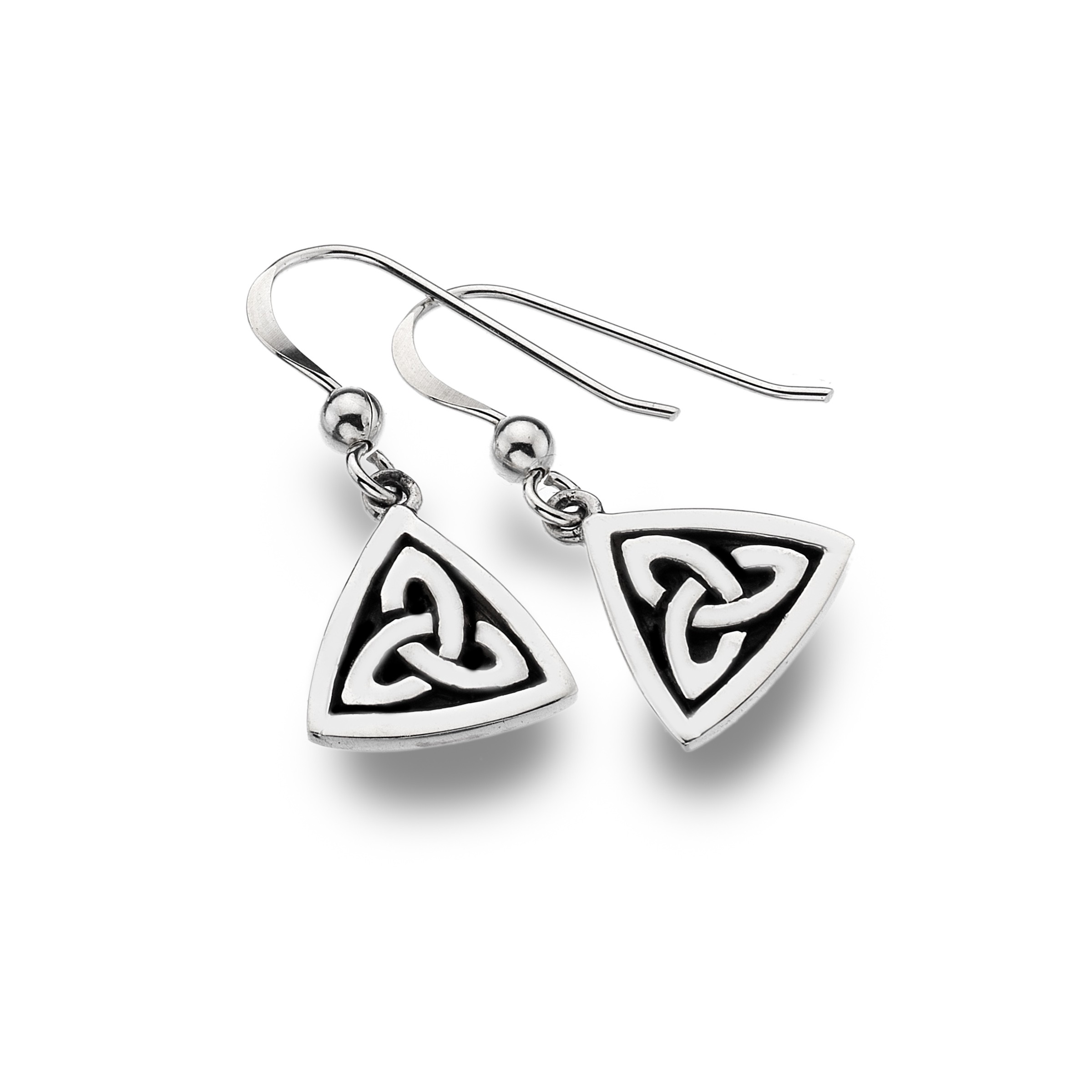 Celtic Trinity Knot Oxid Sterling Silver Earrings