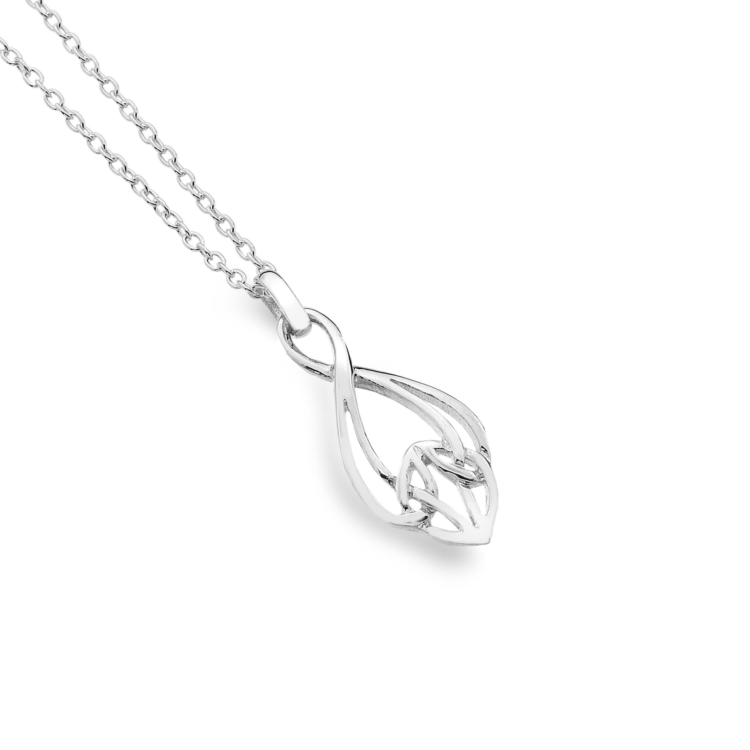 Celtic Knotwork Bell Sterling Silver Pendant Necklace