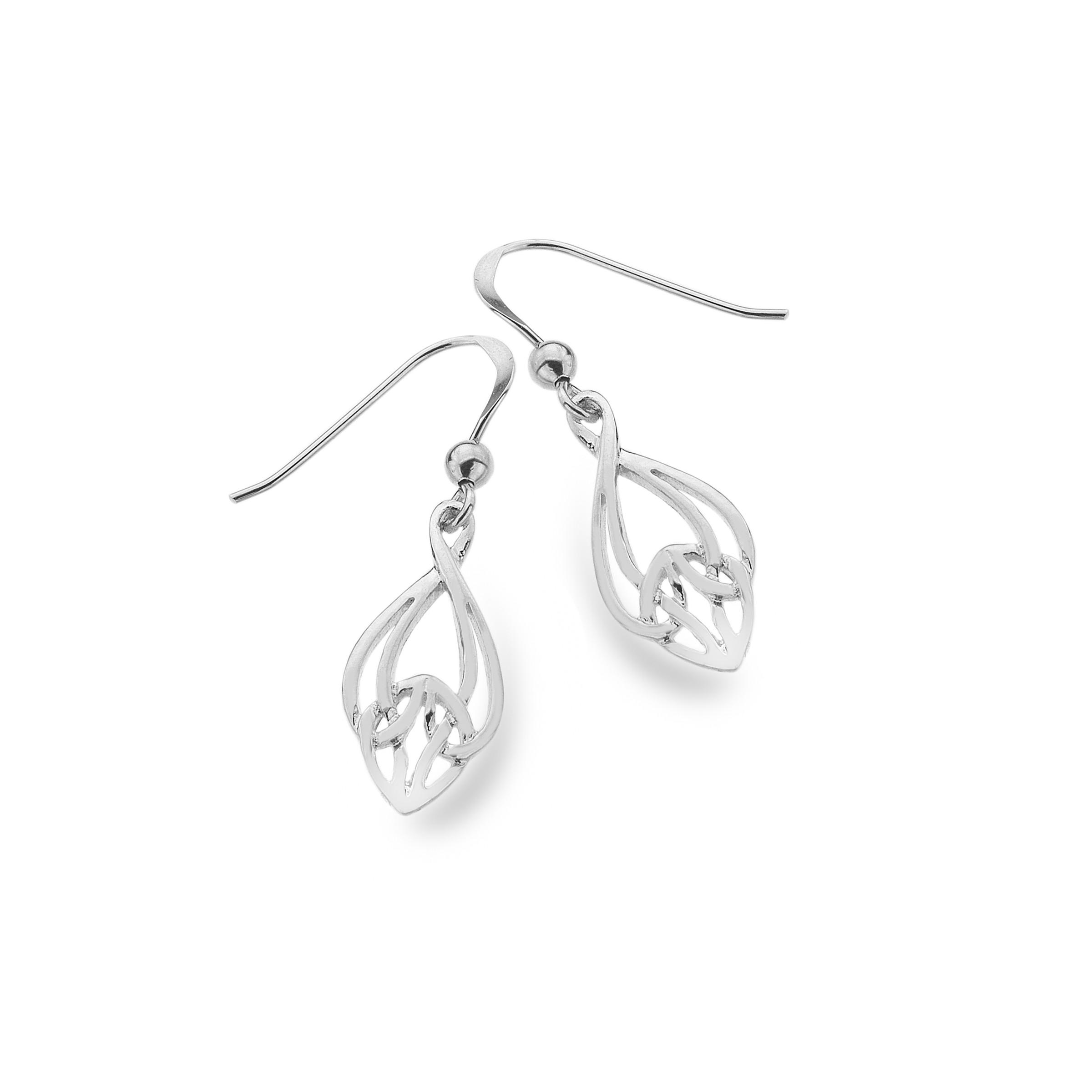 Celtic Knotwork Bell Shape Sterling Silver Earrings