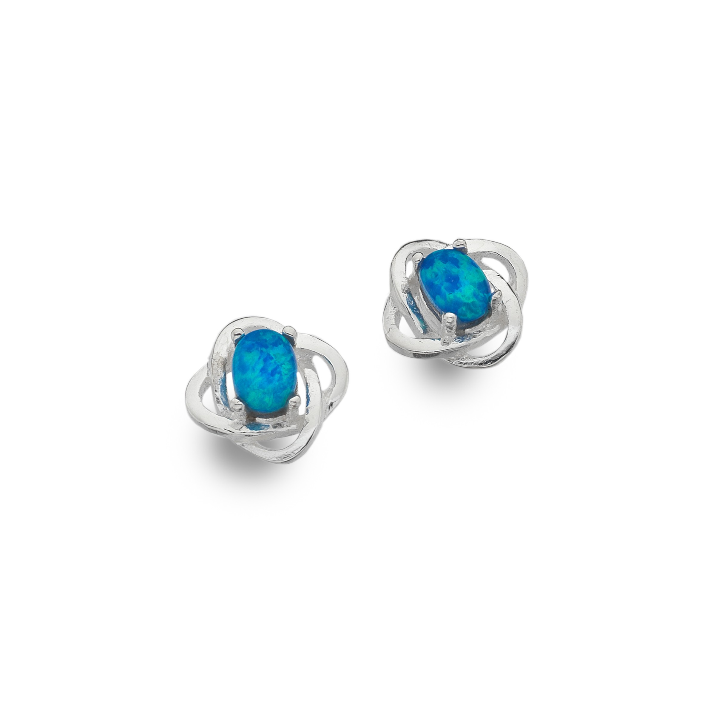 earrings mk sil blue crbop enhanced cut silver round rhodium elements sterling xilion caribbean crystals opal swarovski shop stud