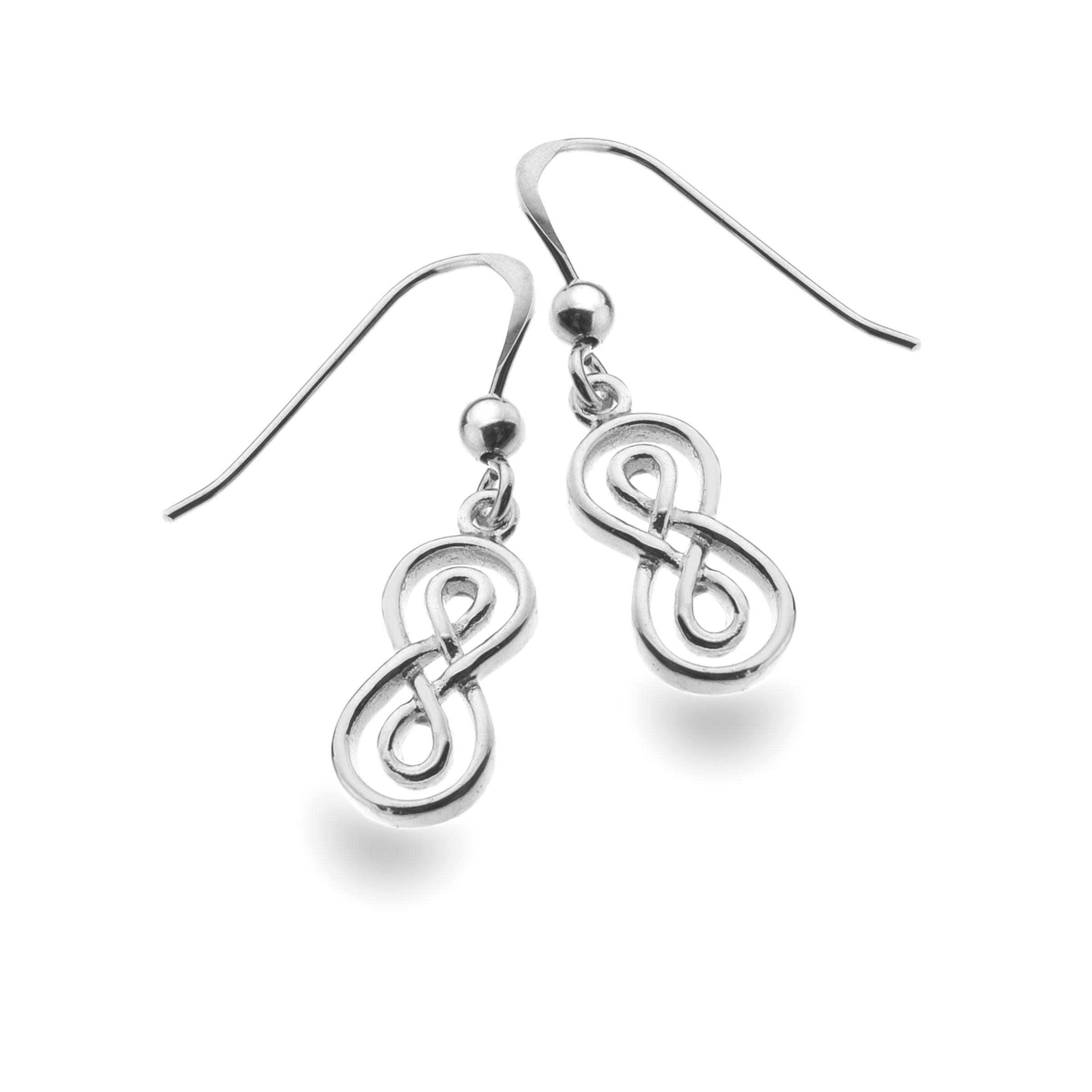 Celtic Double Infinity Knot Sterling Silver Earrings