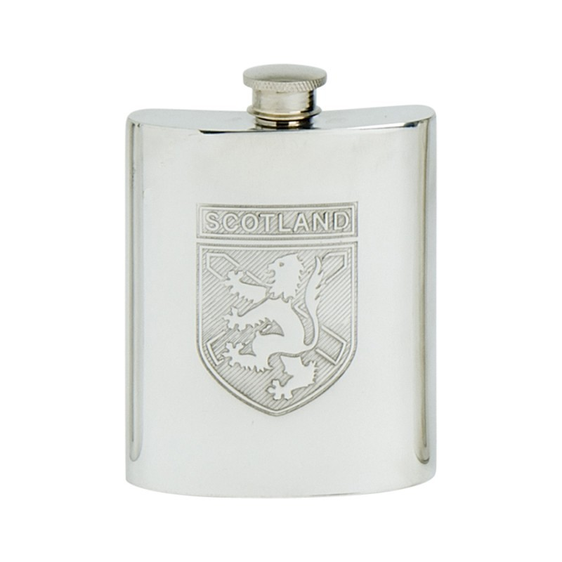 Edwin Blyde Celtic Collection Scotland Shield Kidney Flask