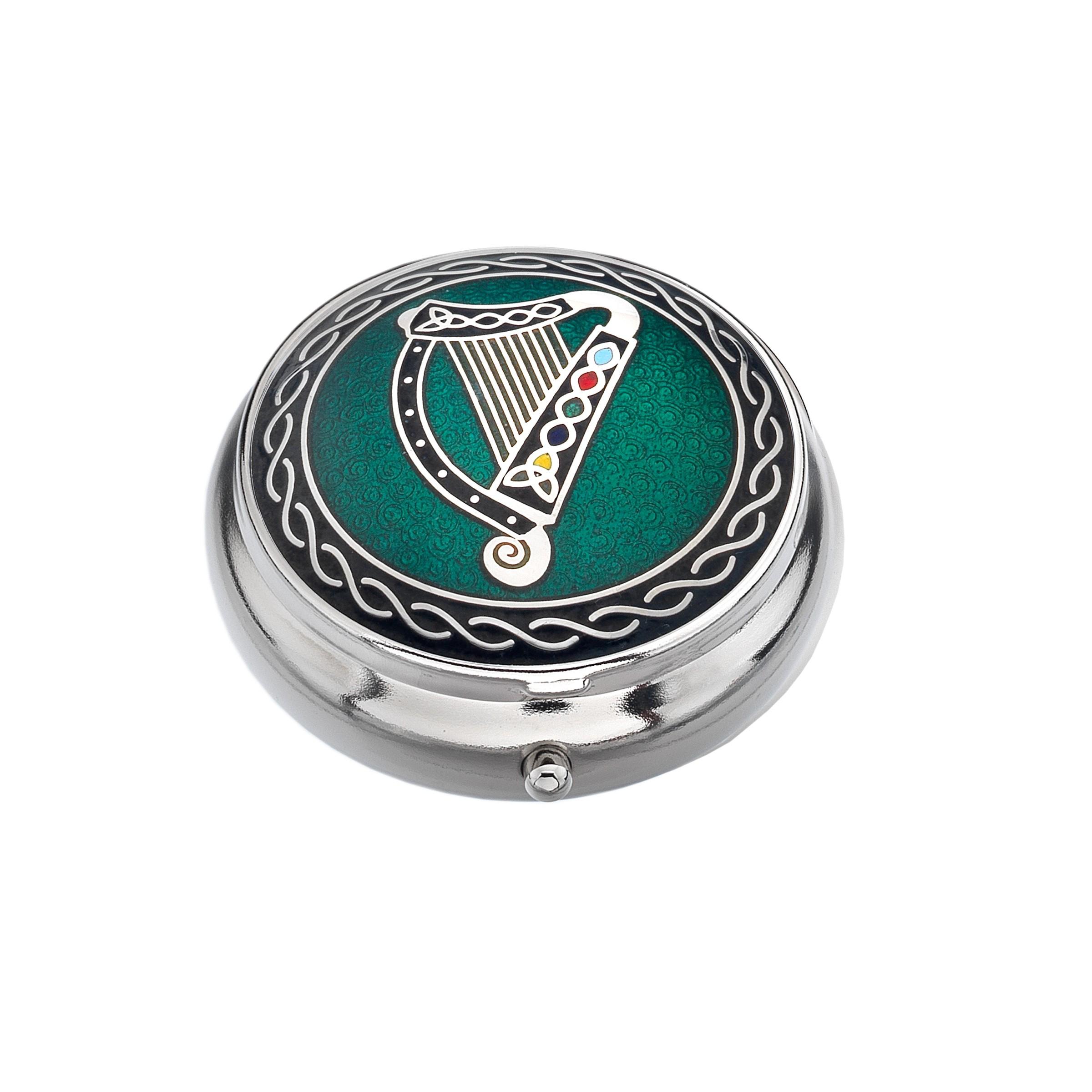 Celtic Irish Harp Small Pill Box