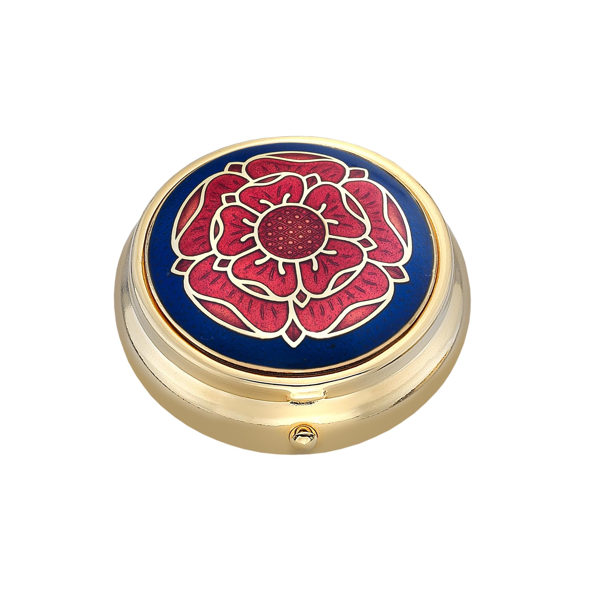 Tudor Rose Small Pill Box