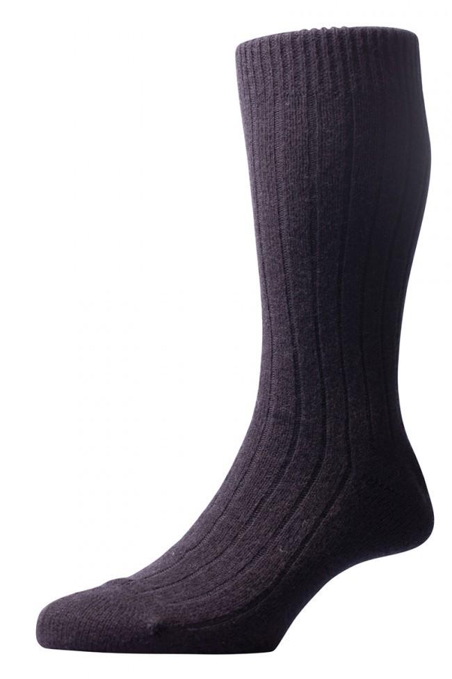 Pantherella Men's Waddington Cashmere Socks - Black - Large