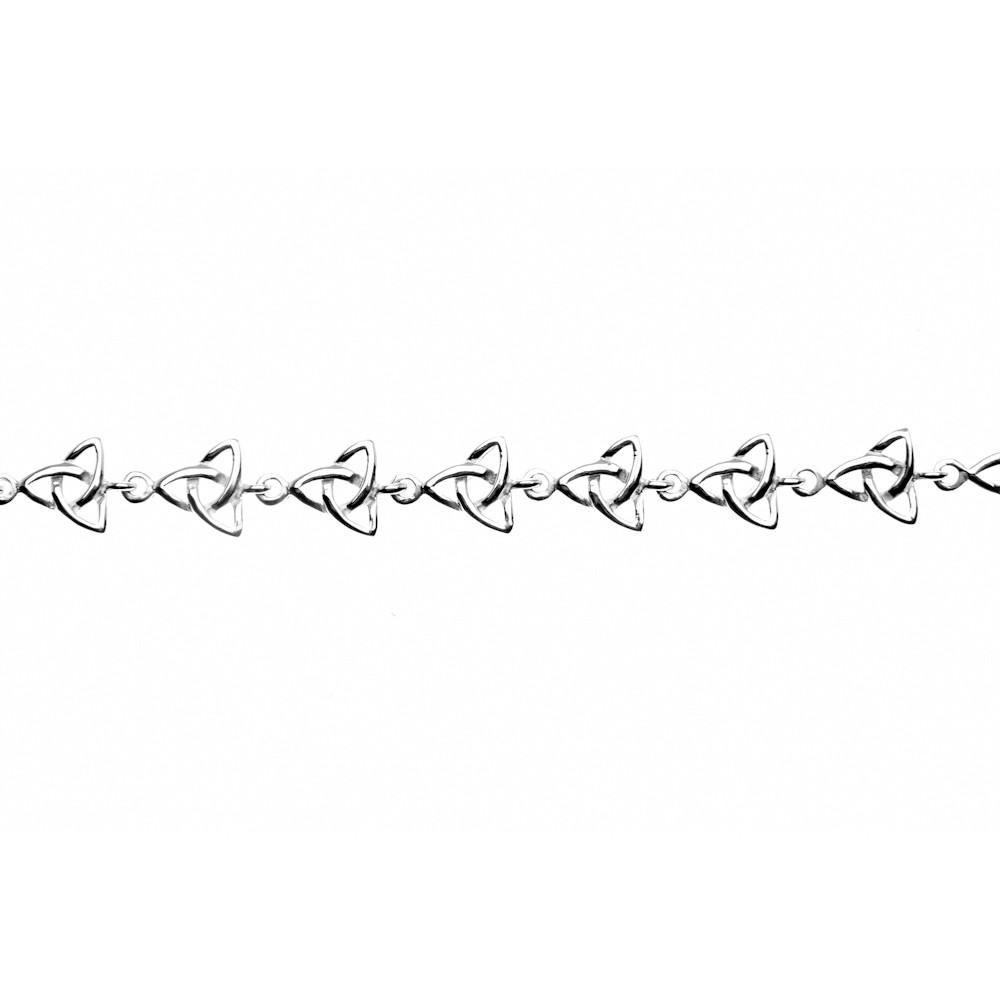 Celtic Trinity Knot 925 Sterling Silver Bracelet