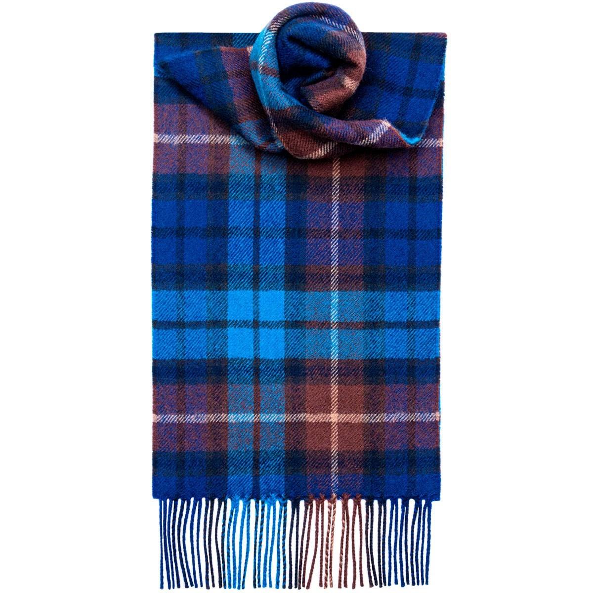 Buchanan Blue Tartan 100% Lambswool Scarf by Lochcarron