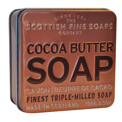 Cocoa Butter Scottish Fine Soap in a Tin - 100g Triple Milled