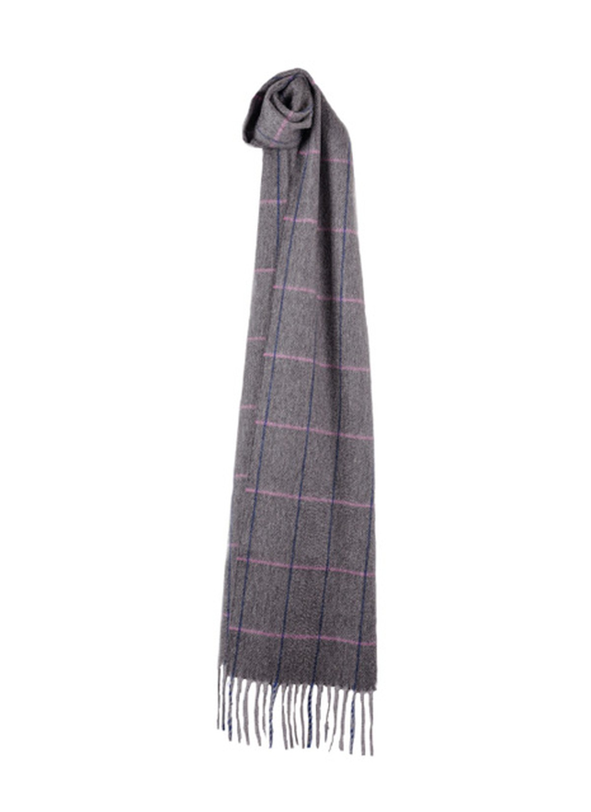 Sinclair Duncan Herringbone Woven Cashmere Scarf - Dark Grey