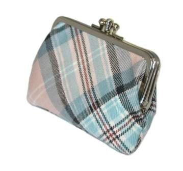 Lochcarron Princess Diana Rose Memorial Tartan Small Coin Purse - Made in Scotland
