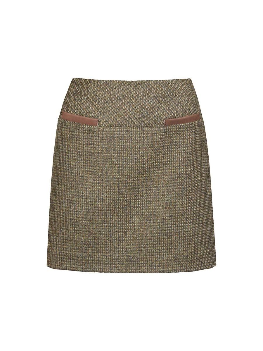 Dubarry Clover Tweed Mini Skirt - Heath