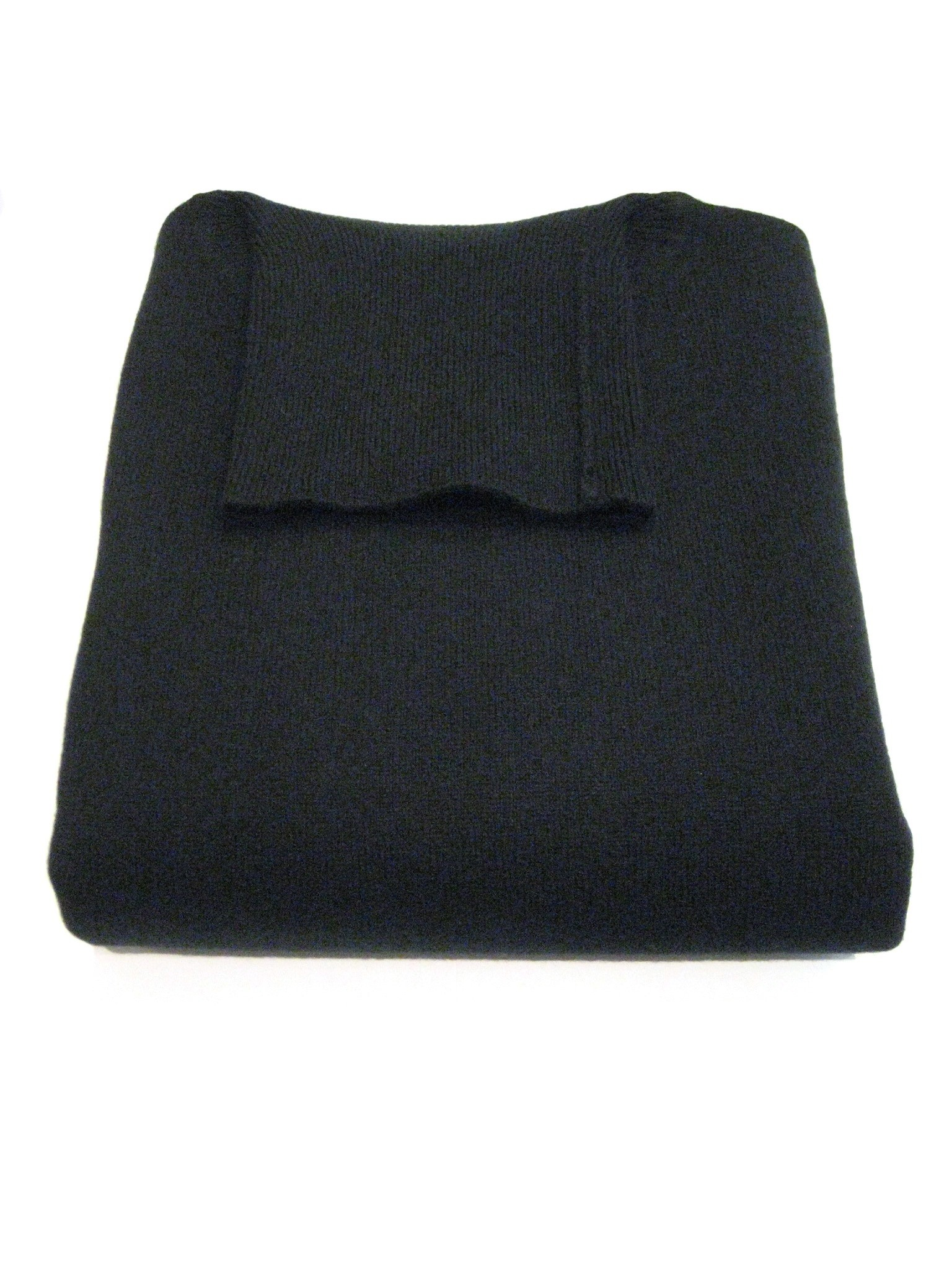 Black Men's Roll Neck Sweaters - 100% Cashmere Made in Scotland