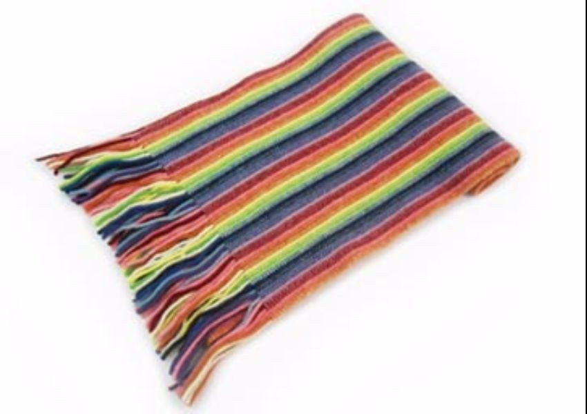 Primary Mix Lambswool Scarf from The Scarf Company - Made in Scotland