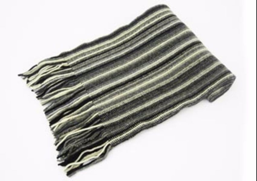Grey Mix Lambswool Scarf from The Scarf Company - Made in Scotland