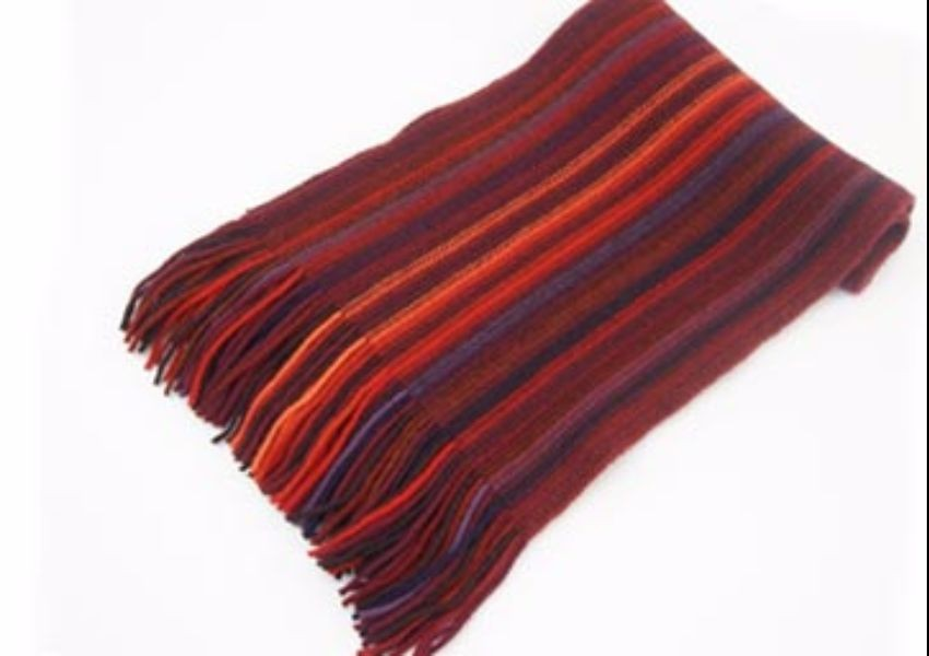 Dark Red Lambswool Scarf from The Scarf Company - Made in Scotland