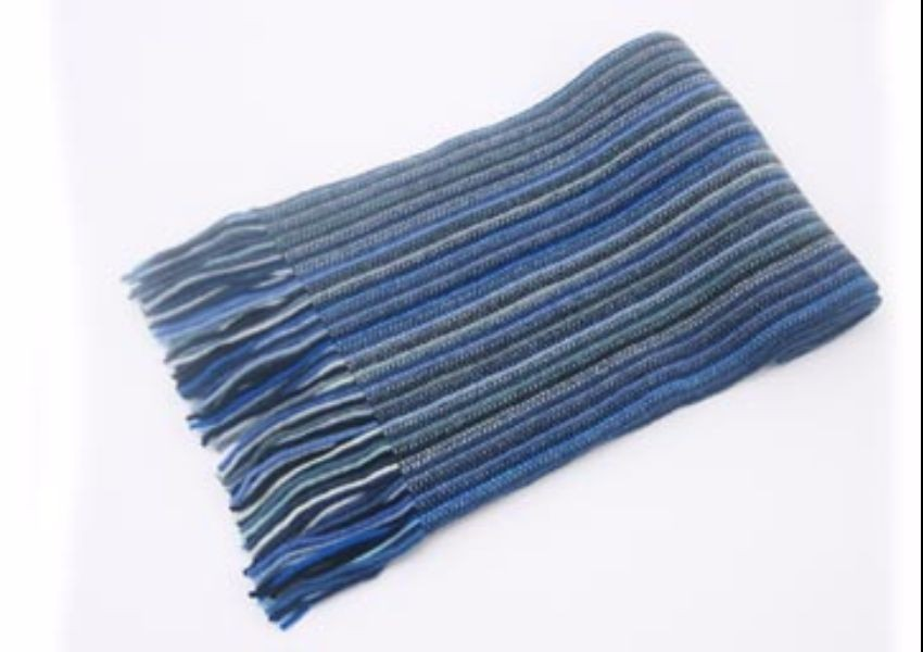 Muted Blues Lambswool Scarf from The Scarf Company - Made in Scotland