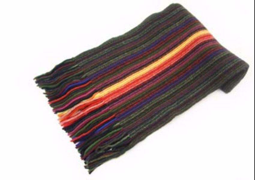 Dark Mix Lambswool Scarf from The Scarf Company - Made in Scotland