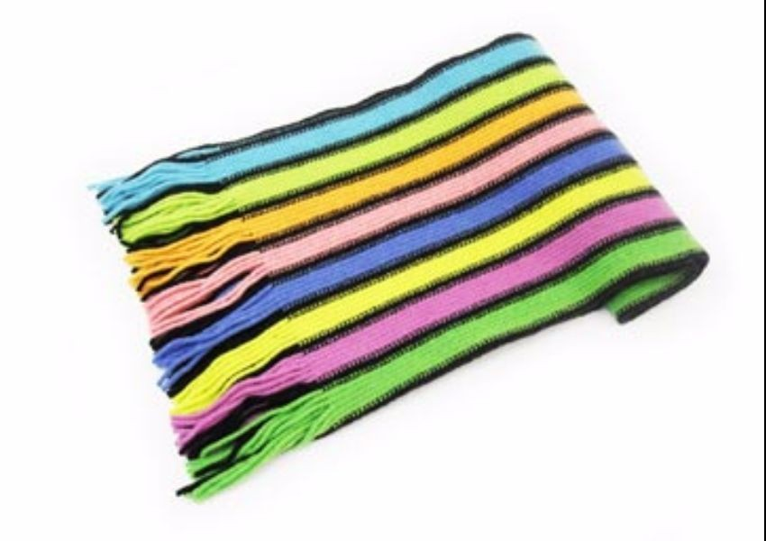 Liquorice Stripes 2 Lambswool Scarf from The Scarf Company - Made in Scotland