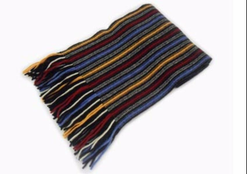 Mixed Stripes 58 Lambswool Scarf from The Scarf Company - Made in Scotland