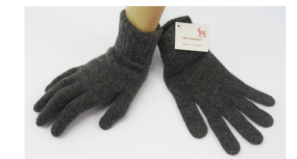 The Scarf Company Derby Grey 2 Ply Cashmere Ladies' Gloves