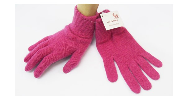 The Scarf Company Infra Pink 2 Ply Cashmere Ladies' Gloves