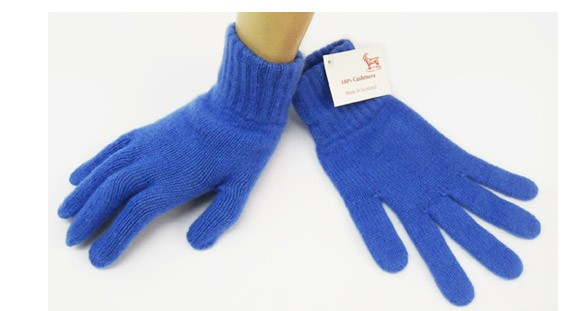 The Scarf Company Isafahn Blue 2 Ply Cashmere Ladies' Gloves