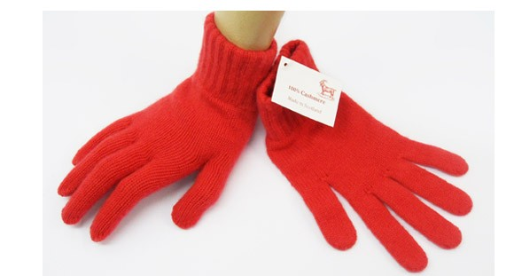 The Scarf Company Pheonix Red 2 Ply Cashmere Ladies' Gloves