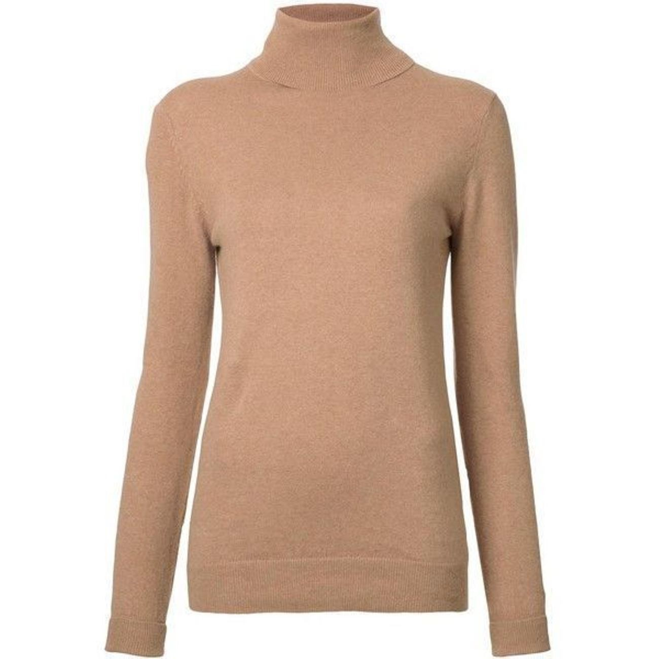 Light Brown Ladies' Roll Neck - 100% Cashmere Made in Scotland