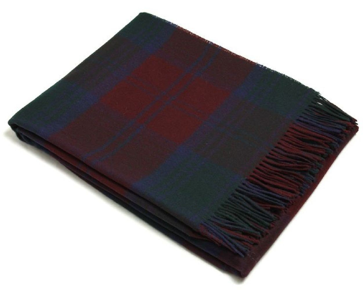 Bronte by Moon 100% Lambswool Tartan Throw - Lindsay