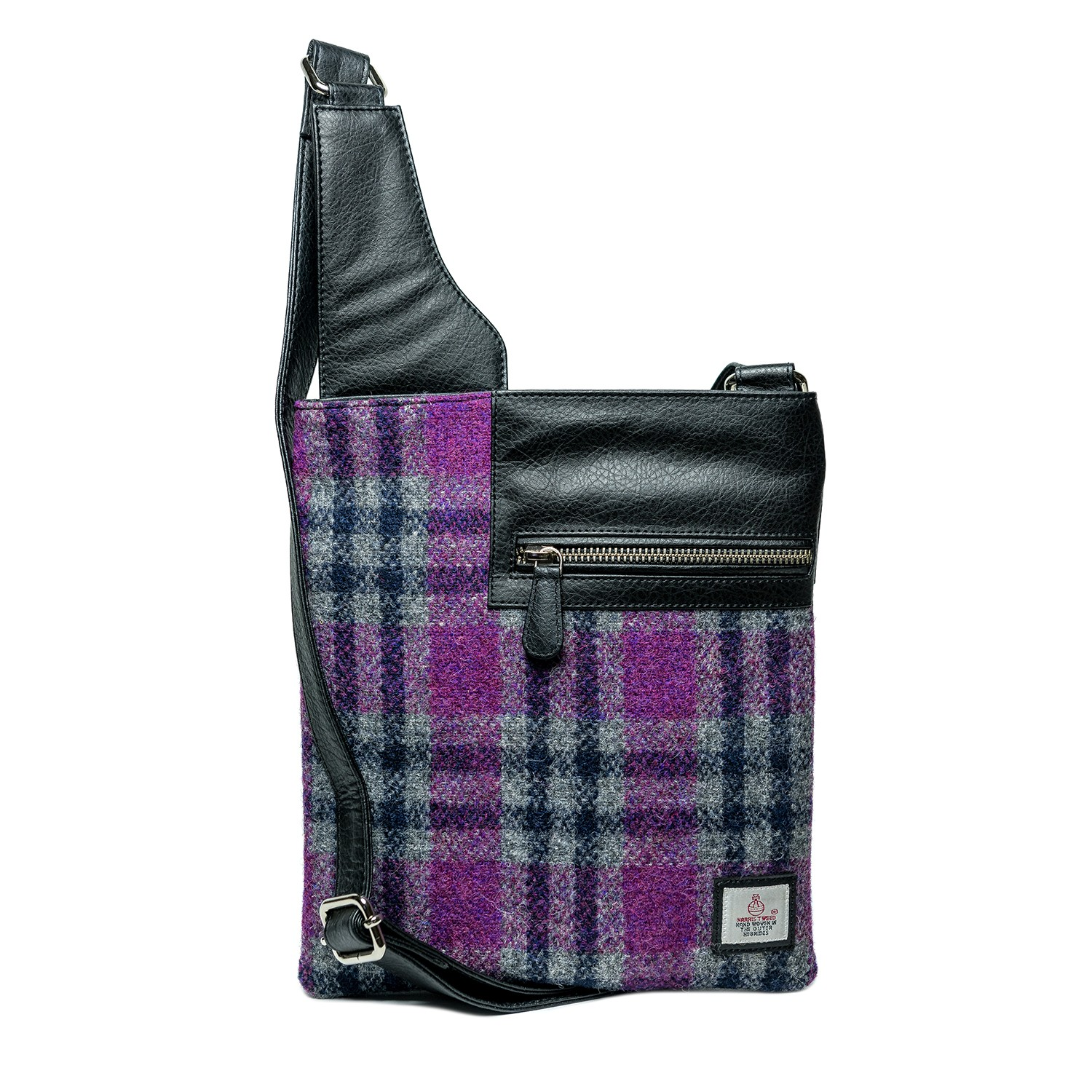 Maccessori Harris Tweed Medium Cross Body Bag in Pink Check