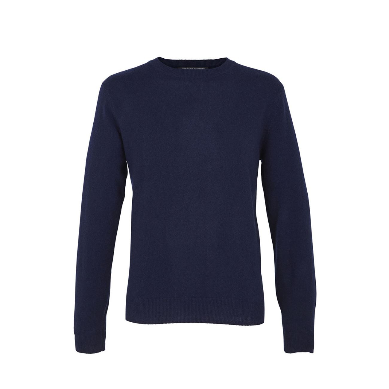 Navy Men's Crew Sweater - 100% Cashmere Made in Scotland