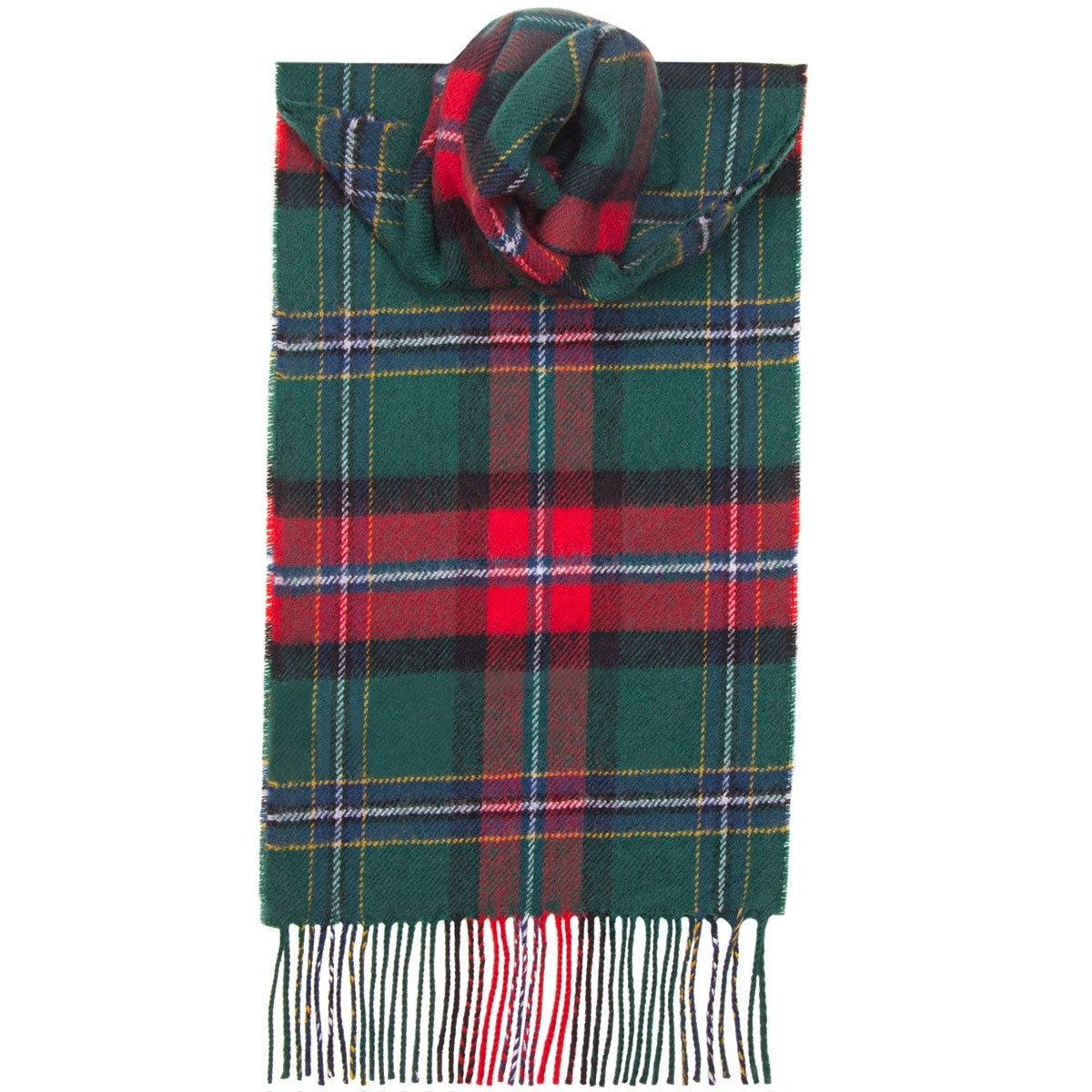 National  Tartan 100% Lambswool Scarf by Lochcarron