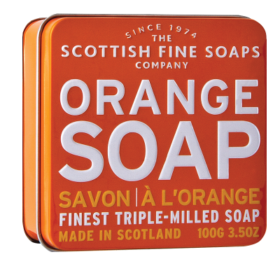 Orange Scottish Fine Soap in a Tin - 100g Triple Milled