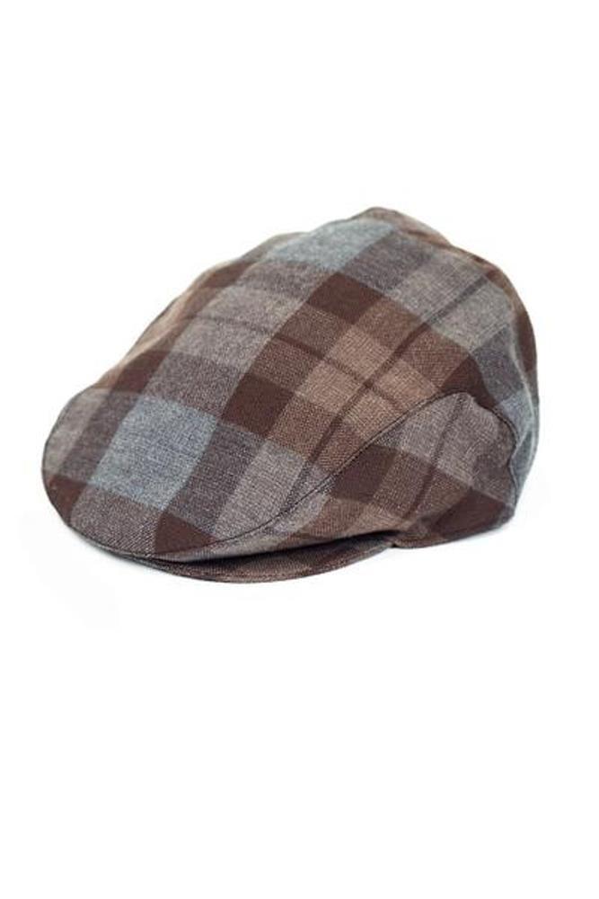 Official Outlander Tartan Wool Flat Cap-S