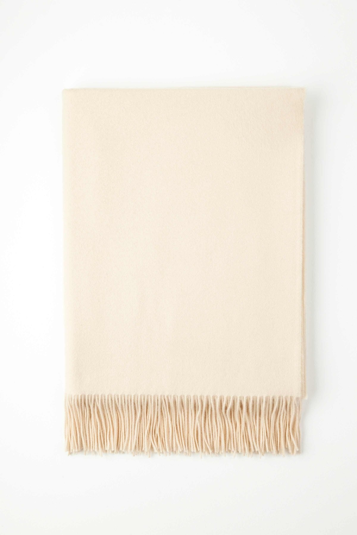 Johnston's of Elgin Plain Cashmere Throw - Cream
