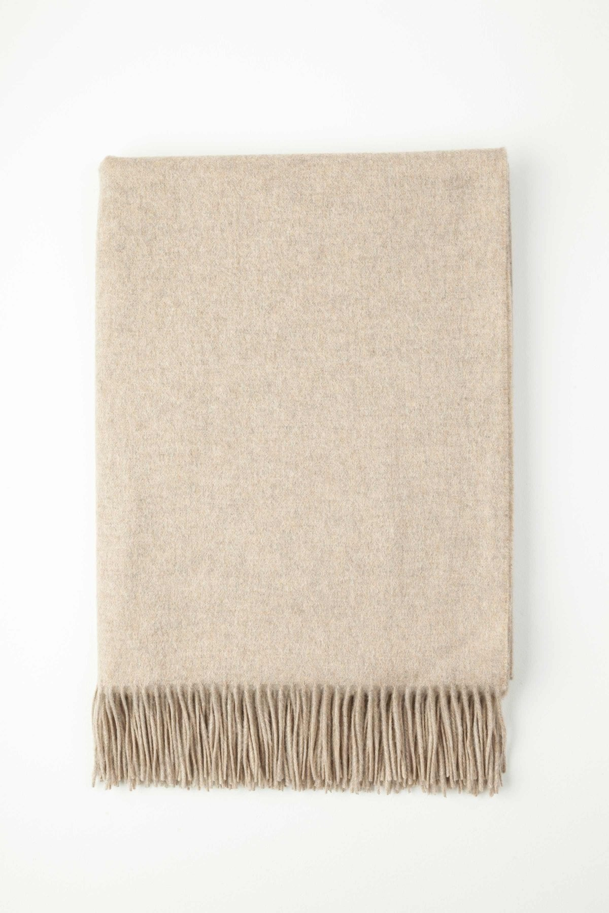 Johnston's of Elgin Plain Cashmere Throw - Hessian