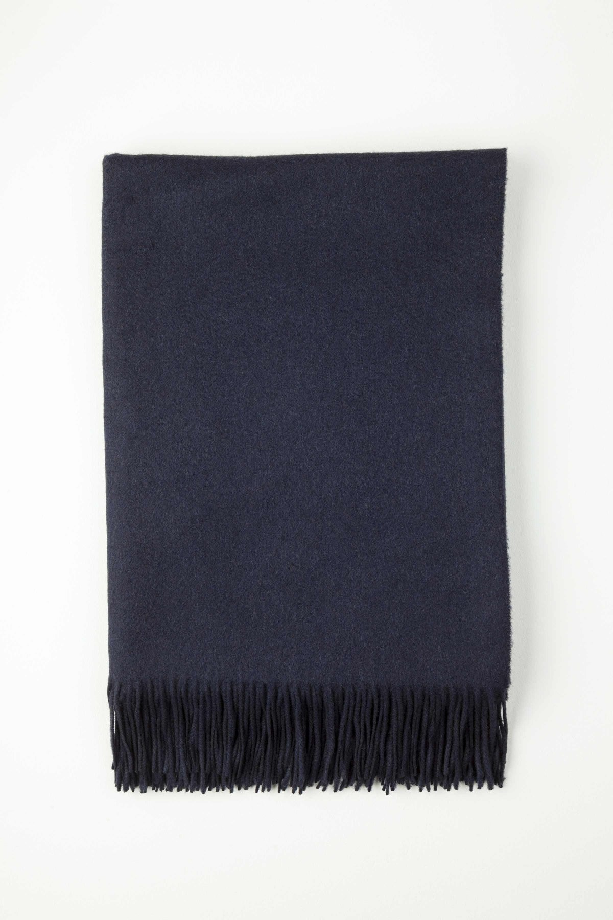 Johnston's of Elgin Plain Cashmere Throw - Navy