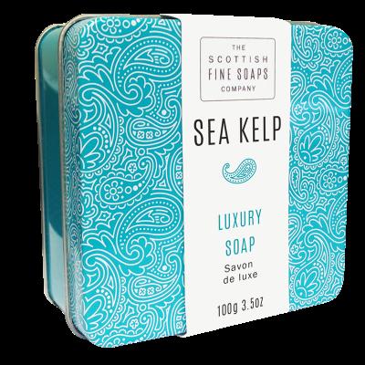 Sea Kelp Scottish Fine Soap in a Tin - 100g Triple Milled