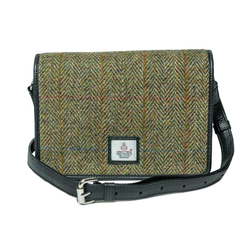 Maccessori Harris Tweed Shoulder Bag in Country Green