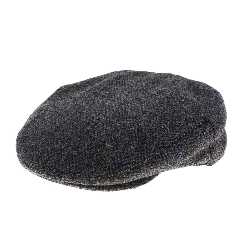 Failsworth Sherlock Deerstalker Hat in Olive Green & Brown 2013 Herringbone Harris Tweed