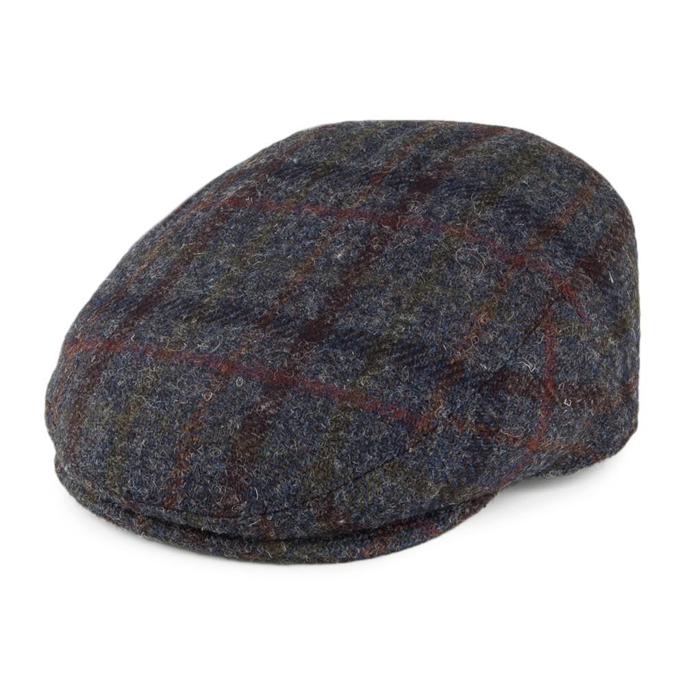 Failsworth Stornoway Flat Cap in Grey Tartan Check 6010 Harris Tweed