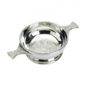 "Edwin Blyde Celtic Collection 4"" Celtic Cross Quaich Bowl"